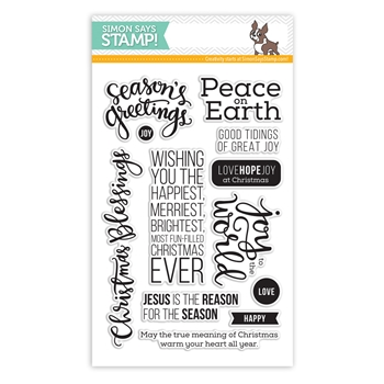Simon Says Clear Stamps PEACE ON EARTH sss101436
