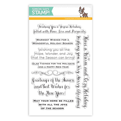 Simon Says Clear Stamps INSIDE HOLIDAY GREETINGS sss101439 Preview Image