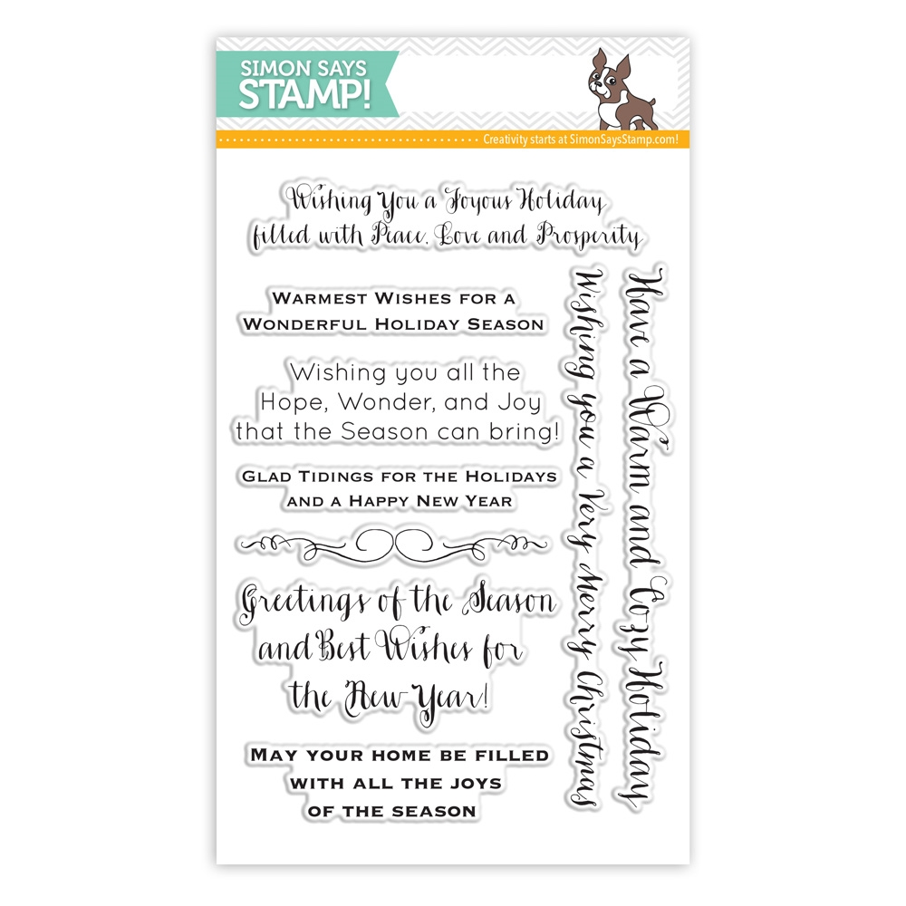 Simon Says Clear Stamps INSIDE HOLIDAY GREETINGS sss101439 zoom image
