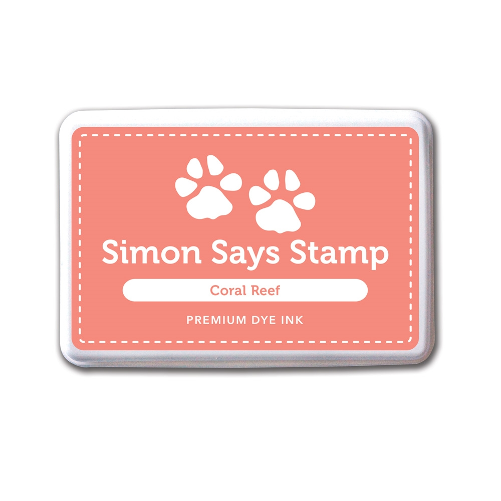 Simon Says Stamp Premium Dye Ink Pad CORAL REEF Peach Ink027 zoom image