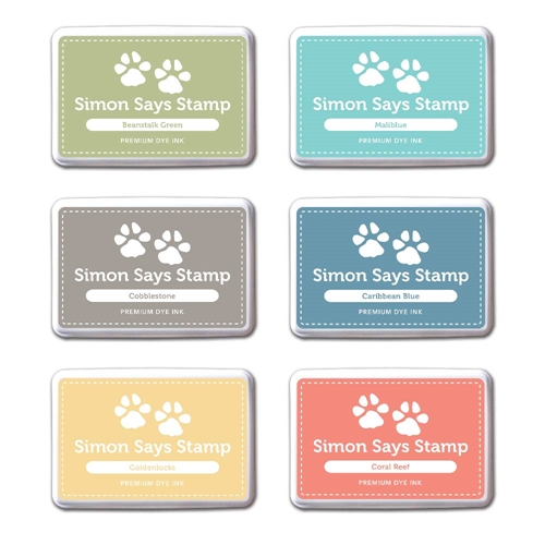 Simon Says Stamp Premium Dye 6 Ink Pads Set FAIRYTALE FTINK914 Preview Image