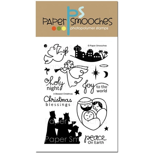 Paper Smooches A BLESSED CHRISTMAS Clear Stamps SES220* Preview Image