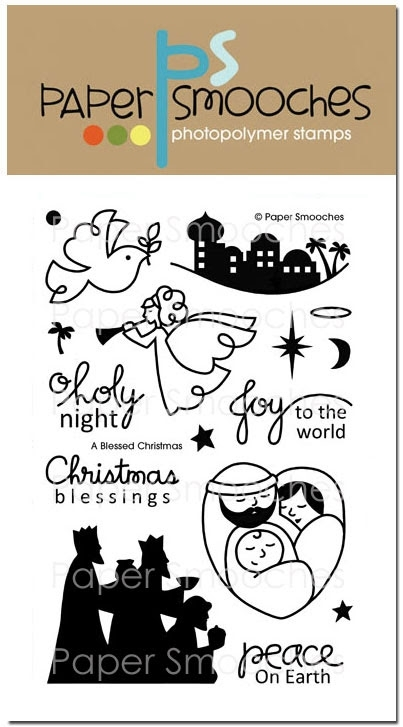 Paper Smooches A BLESSED CHRISTMAS Clear Stamps SES220* zoom image