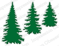 Impression Obsession Steel Dies EVERGREEN TREES DIE217-E Preview Image