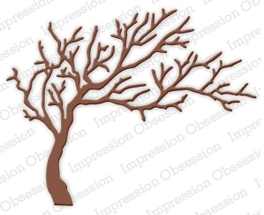 Impression Obsession Steel Dies WIDE TREE Set DIE219-P