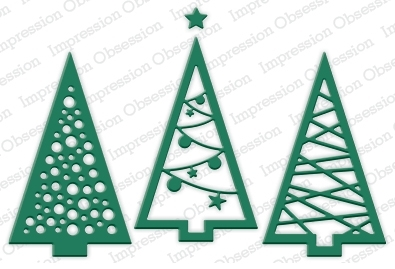 Impression Obsession Steel Dies CHRISTMAS TREE CUTOUT Set DIE240-V* Preview Image