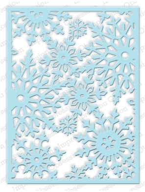 Impression Obsession Steel Dies SNOWFLAKE BACKGROUND Set DIE211-YY zoom image