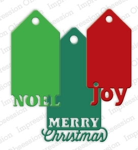 Impression Obsession Steel Dies CHRISTMAS TAGS Set DIE223-ZZ Preview Image