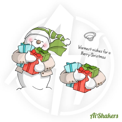 Art Impressions SNOWMAN SHAKER Shakers Cling Rubber Stamps 4514 Preview Image
