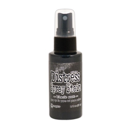 Tim Holtz Distress Spray Stain BLACK SOOT Ranger TSS42167 Preview Image
