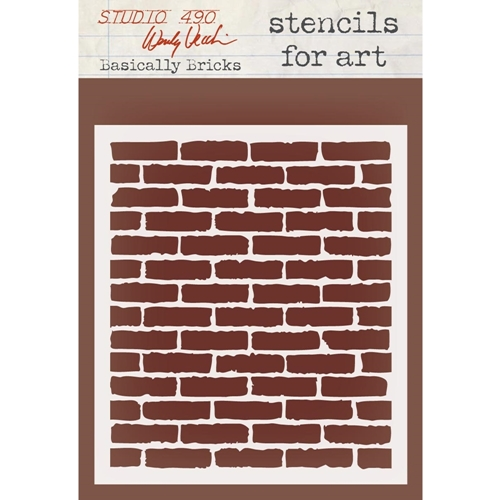 Wendy Vecchi Stencils For Art BASICALLY BRICKS WVSFA032 Preview Image