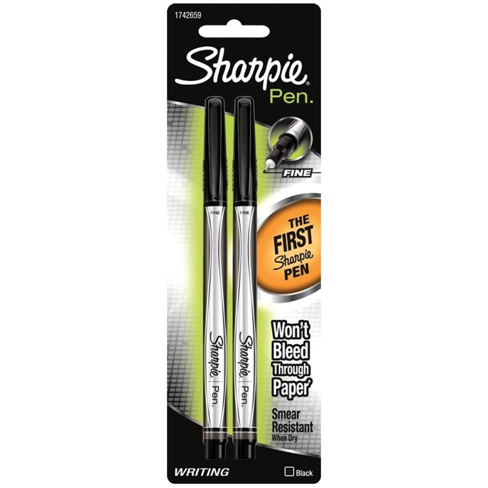 Sharpie BLACK FINE POINT Writing Pens 1742659 zoom image