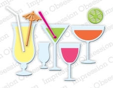 Impression Obsession Steel Dies MIXED DRINKS Set DIE185-H Preview Image