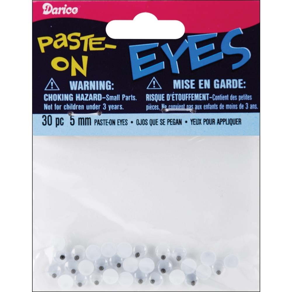 Darice 5MM PASTE-ON EYES 30 Pieces ME5 zoom image