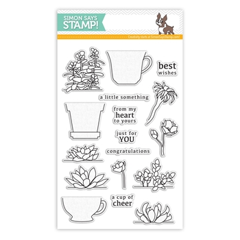 Simon Says Clear Stamps CUPS AND SUCCULENTS sss101483