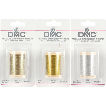 DMC Metallic COMBO PACK OF 3 Embroidery Thread DMC3PACK
