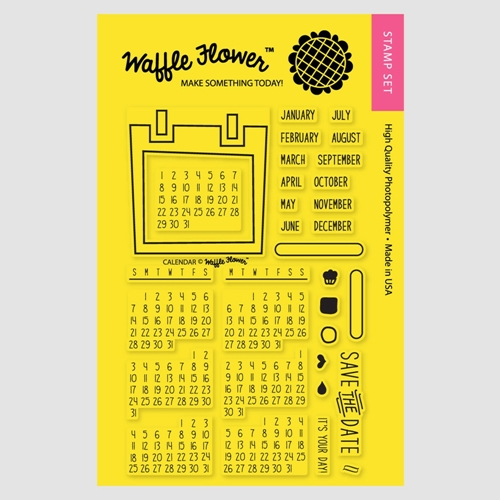 Waffle Flower CALENDAR STAMP SET Clear Stamps 271020 Preview Image