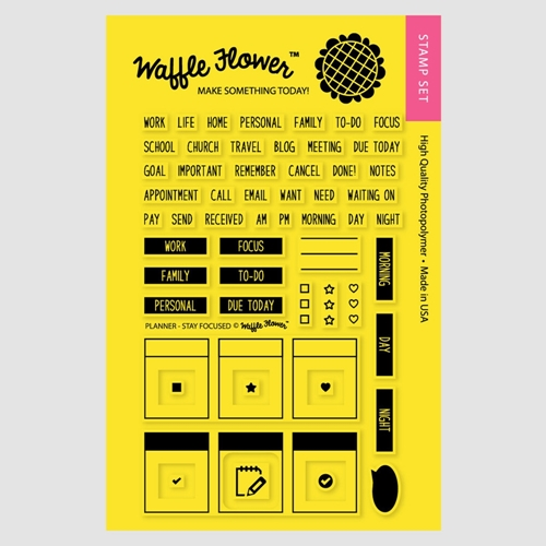 Waffle Flower PLANNER STAY FOCUSED Clear Stamp Set 271017 Preview Image