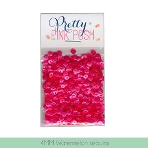Pretty Pink Posh 4MM WATERMELON Cupped Sequins zoom image