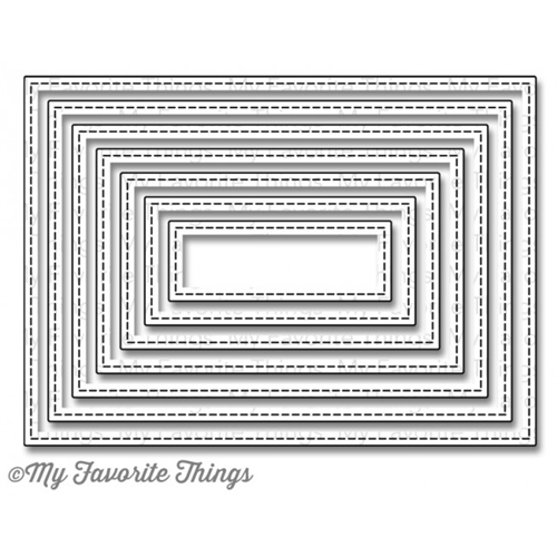 My Favorite Things STITCHED RECTANGLE STAX Die-Namics MFT MFT506 Preview Image
