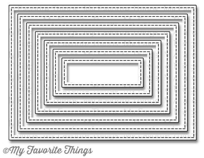 My Favorite Things STITCHED RECTANGLE STAX Die-Namics MFT MFT506 zoom image
