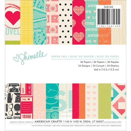 American Crafts SHIMELLE 6 x 6 Paper Pad 368160* Preview Image