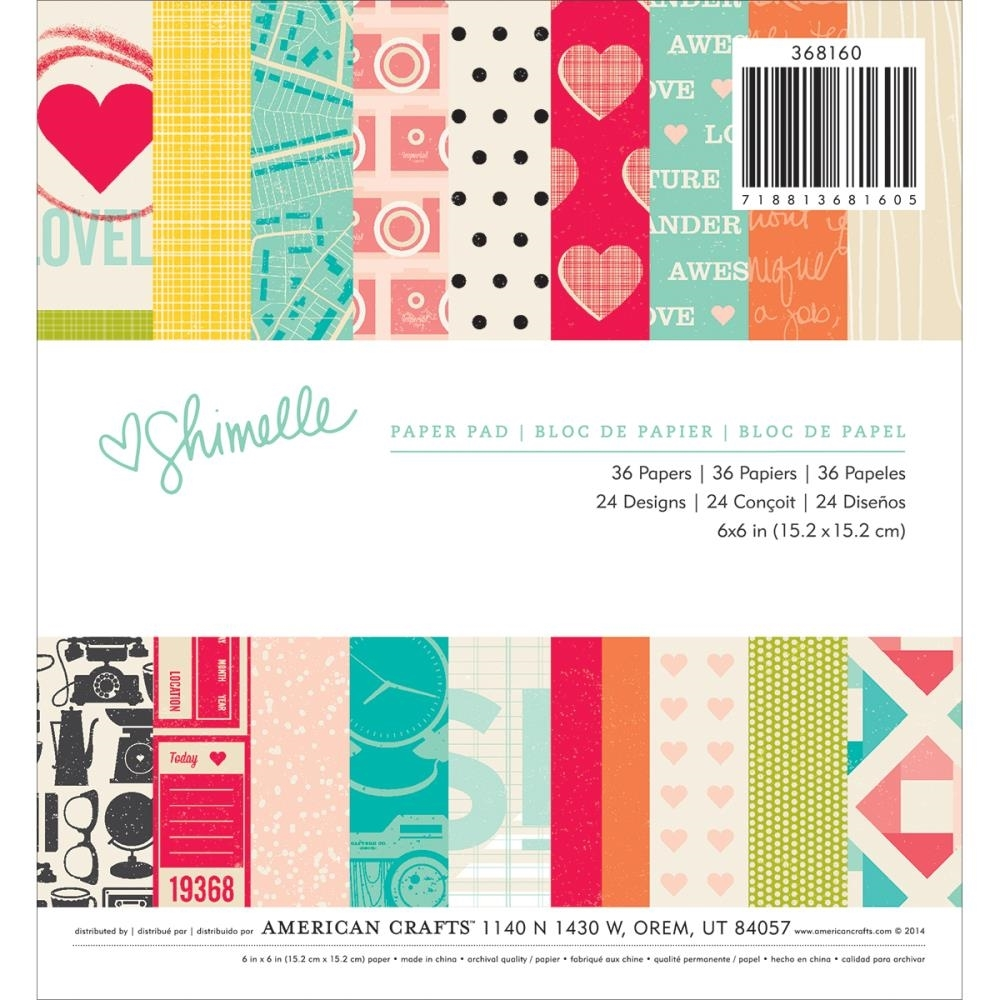 American Crafts SHIMELLE 6 x 6 Paper Pad 368160* zoom image