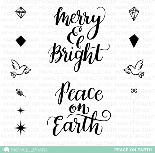 Mama Elephant Clear Stamps PEACE ON EARTH zoom image