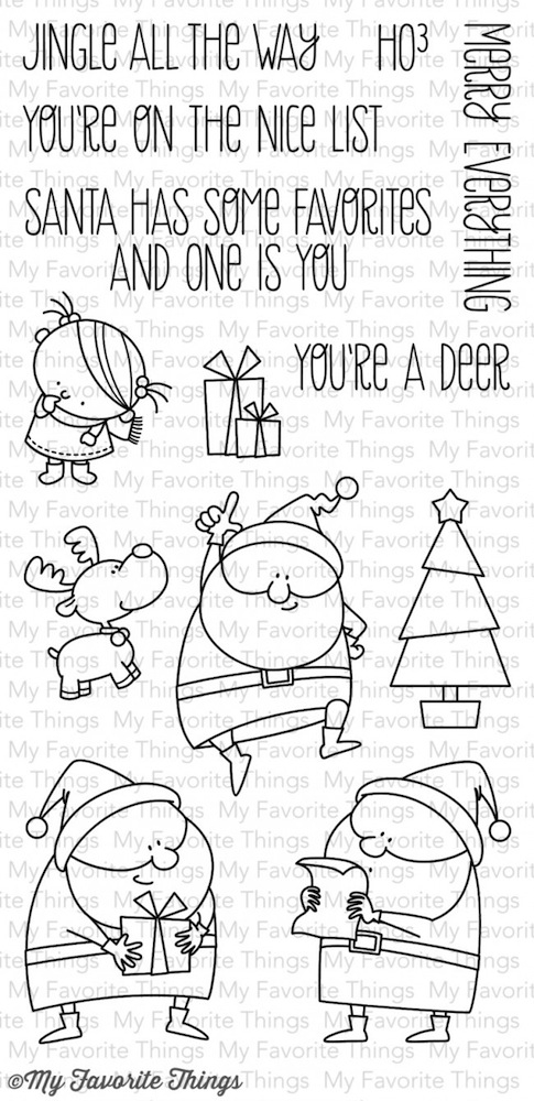 My Favorite Things JINGLE ALL THE WAY Clear Stamps MFT BB8 zoom image