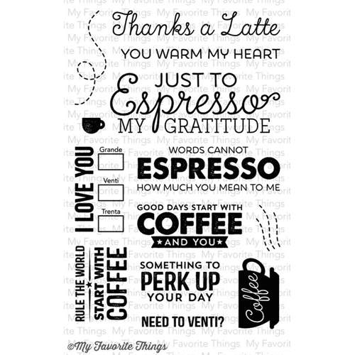 My Favorite Things PERK UP Clear Stamps MFT LLD37 Preview Image
