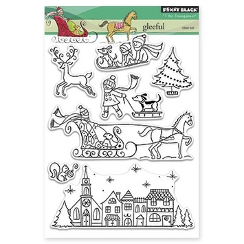 Penny Black Clear Stamps GLEEFUL 30-266 Preview Image