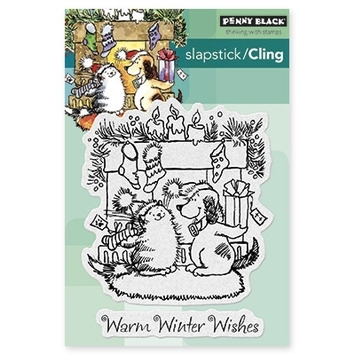 Penny Black Cling Stamps WARM WISHES Rubber Unmounted 40-364 zoom image