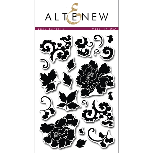 Altenew LACY SCROLLS Clear Stamp Set ALT1009* Preview Image