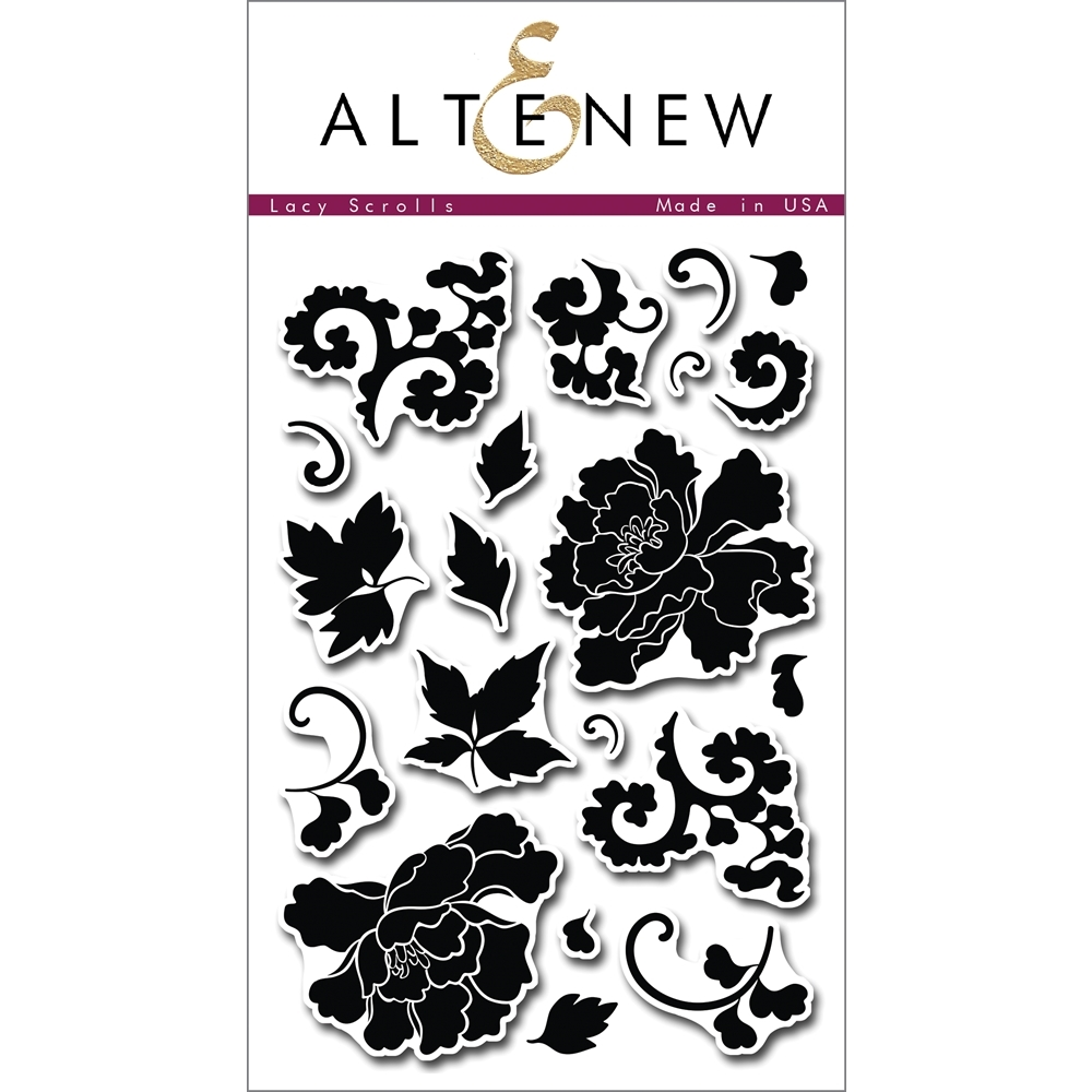 Altenew LACY SCROLLS Clear Stamp Set ALT1009* zoom image