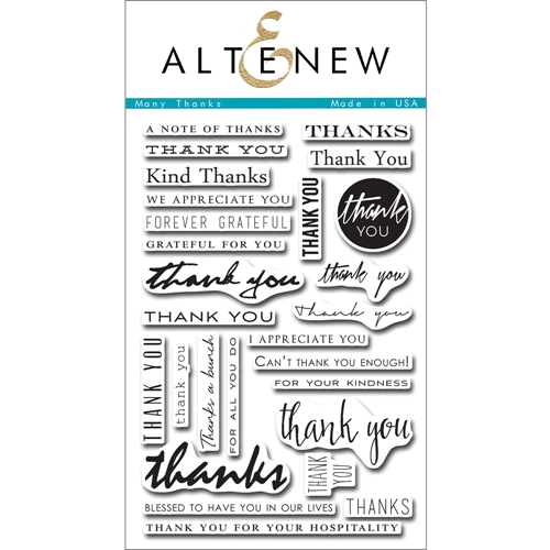Altenew MANY THANKS Clear Stamp Set ALT1089 Preview Image