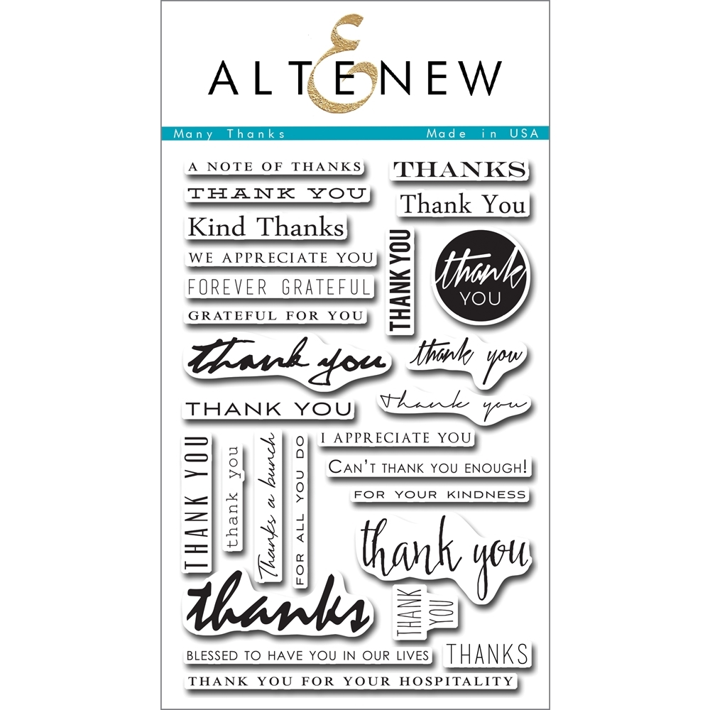 Altenew MANY THANKS Clear Stamp Set ALT1089 zoom image