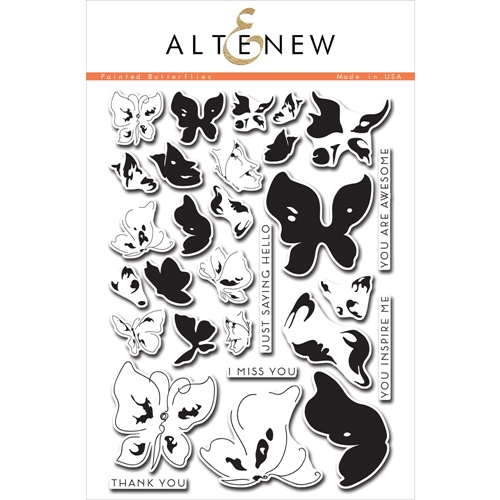 Altenew PAINTED BUTTERFLIES Clear Stamp Set ALT1048 Preview Image
