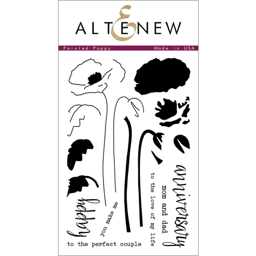 Altenew PAINTED POPPY Clear Stamp Set ALT1013 Preview Image