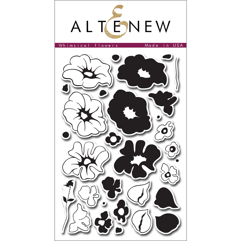 Altenew WHIMSICAL FLOWERS Clear Stamp Set ALT1011* zoom image
