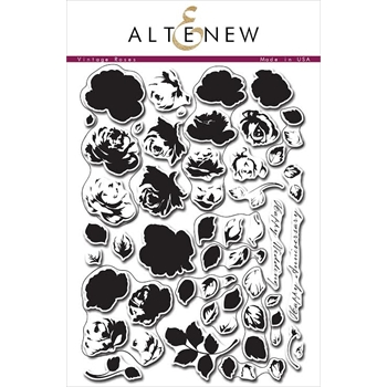 Altenew VINTAGE ROSES Clear Stamp Set ALT1008