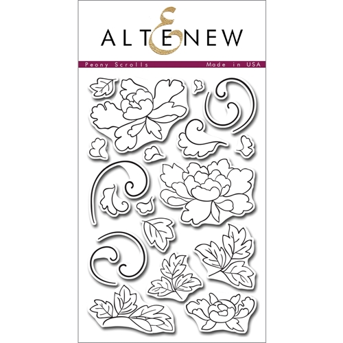 Altenew PEONY SCROLLS Clear Stamp Set ALT1010* Preview Image