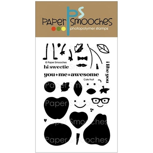 Paper Smooches CUTE FRUIT Clear Stamps NOS229 * Preview Image