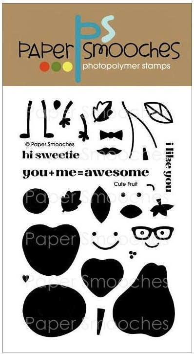Paper Smooches CUTE FRUIT Clear Stamps NOS229 * zoom image