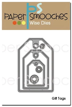 Paper Smooches GIFT TAGS Wise Dies NOD173 zoom image