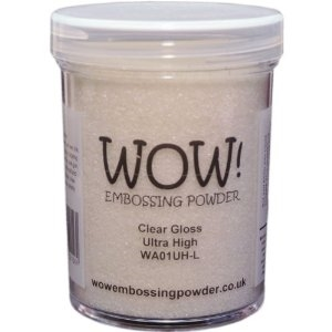 WOW Embossing Powder CLEAR GLOSS Ultra High Large Jar WA01UH-L Preview Image