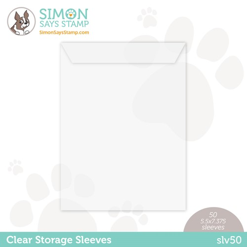Simon Says Stamp Clear STORAGE SLEEVES 50 Quantity SLV50 Preview Image