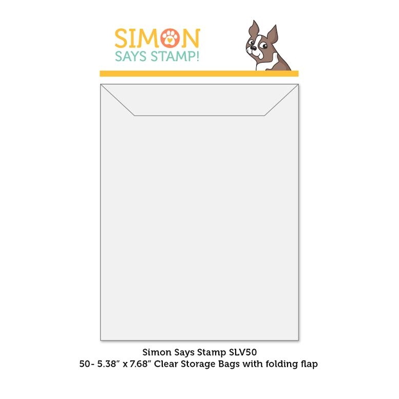 Simon Says Stamp Clear STORAGE SLEEVES 50 Quantity SLV50 zoom image
