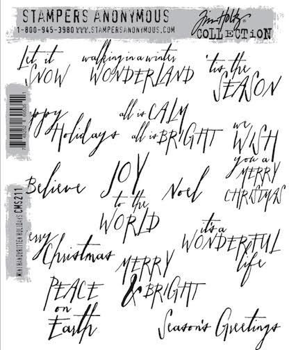 Tim Holtz Cling Rubber Stamps MINI HANDWRITTEN HOLIDAYS CMS211 zoom image