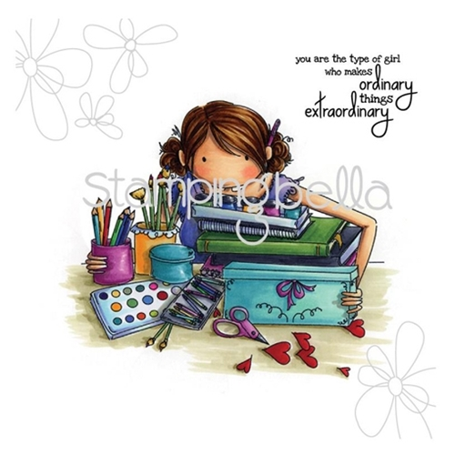 Stamping Bella Cling Stamp UPTOWN GIRL CALLISTA LOVES TO CRAFT Rubber UM EB268 Preview Image