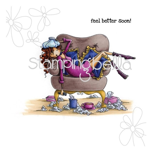 Stamping Bella Cling Stamp UPTOWN GIRL SOFIA THE SICKY Rubber UM EB274 Preview Image